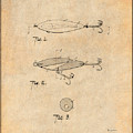 1909 Lockhart Antique Fishing Lure Antique Paper Patent Print by Greg Edwards