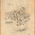 1913 Side Car Attachment For Motorcycle Antique Paper Patent Print by Greg Edwards