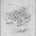 1913 Side Car Attachment For Motorcycle Gray Patent Print by Greg Edwards