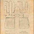 1914 Hockey Gloves Antique Paper Patent Print by Greg Edwards
