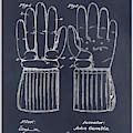 1914 Hockey Gloves Blackboard Patent Print by Greg Edwards