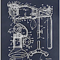 1919 Anesthetic Machine Blackboard Patent Print by Greg Edwards