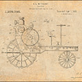 1919 Antique Tractor Antique Paper Patent Print by Greg Edwards