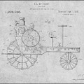 1919 Antique Tractor Gray Patent Print by Greg Edwards