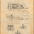 1919 Motor Driven Hair Clipper Antique Paper Patent Print by Greg Edwards