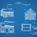 1920 Lincoln Logs Blueprint Patent Print by Greg Edwards
