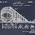1927 Roller Coaster Blackboard Patent Print by Greg Edwards