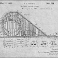 1927 Roller Coaster Gray Patent Print by Greg Edwards