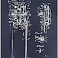 1929 Harley Davidson Front Fork Blackboard Patent Print by Greg Edwards