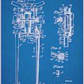 1929 Harley Davidson Front Fork Blueprint Patent Print by Greg Edwards