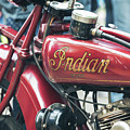 1930 Indian 101 Scout Motorcycle Detail  by Tim Gainey