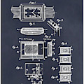 1930 Leon Hatot Self Winding Watch Patent Print Blackboard by Greg Edwards