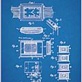 1930 Leon Hatot Self Winding Watch Patent Print Bluebrint by Greg Edwards