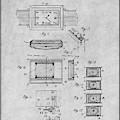1930 Leon Hatot Self Winding Watch Patent Print Gray by Greg Edwards