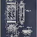 1931 Self Winding Watch Patent Print Blackboard by Greg Edwards