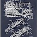 1932 Earth Moving Bulldozer Blackboard Patent Print by Greg Edwards
