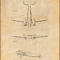 1934 Lockheed Model 10 Electra Airliner Patent Antique Paper by Greg Edwards