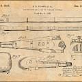 1935 Union Pacific M-10000 Railroad Antique Paper Patent Print by Greg Edwards