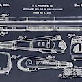 1935 Union Pacific M-10000 Railroad Blackboard Patent Print by Greg Edwards