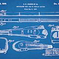 1935 Union Pacific M-10000 Railroad Blueprint Patent Print by Greg Edwards
