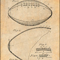 1936 Reach Football Antique Paper Patent Print by Greg Edwards