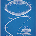 1936 Reach Football Blueprint Patent Print by Greg Edwards