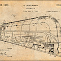 1937 Jabelmann Locomotive Antique Paper Patent Print by Greg Edwards
