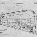 1937 Jabelmann Locomotive Gray Patent Print by Greg Edwards
