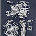 1938 Bell And Howell Movie Camera Patent Print Blackboard by Greg Edwards