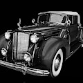 1938 Packard Black And White by TL Mair