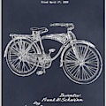 1939 Schwinn Bicycle Blackboard Patent Print by Greg Edwards