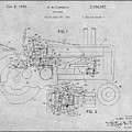 1942 John Deere Tractor Gray Patent Print by Greg Edwards