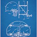 1944 Basketball Goal Blueprint Patent Print by Greg Edwards