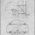 1944 Basketball Goal Gray Patent Print by Greg Edwards