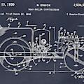 1946 Road Roller Blackboar Patent Print by Greg Edwards