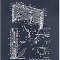 1947 Hockey Goal Patent Print Blackboard by Greg Edwards