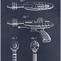 1953 Ray Gun Toy Pistol Blackboard Patent Print by Greg Edwards