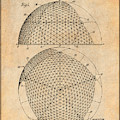 1954 Geodesic Dome Antique Paper Patent Print by Greg Edwards
