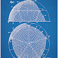 1954 Geodesic Dome Blueprint Patent Print by Greg Edwards