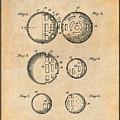 1954 Wiffle Ball Patent Print Antique Paper by Greg Edwards