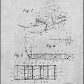 1960 Bombardier Snowmobile Gray Patent Print by Greg Edwards