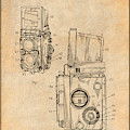 1960 Rolleiflex Photographic Camera Antique Paper Patent Print by Greg Edwards