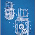 1960 Rolleiflex Photographic Camera Blueprint Patent Print by Greg Edwards