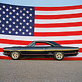 1969 Plymouth Gtx Hemi With Old Glory by Car Culture