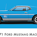 1971 Ford Mustang Mach 1 - Grabber Blue Ver.2 by Ed Jackson