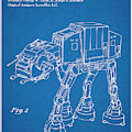 1982 Star Wars At-at Imperial Walker Blueprint Patent Print by Greg Edwards