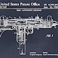 1982 Uzi Submachine Gun Blackboard Patent Print by Greg Edwards