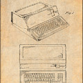 1983 Steve Jobs Apple Personal Computer Antique Paper Patent Print by Greg Edwards