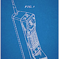 1988 Motorola Cell Phone Blueprint Patent Print by Greg Edwards