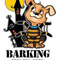 Barking Spider Halloween Design For Dog Lovers Light by Nikita Goel